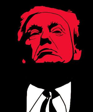 Trump graphic, Trump quits?