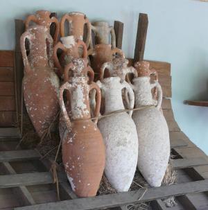 Shipping amphorae.