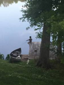 Fishing off of the dock