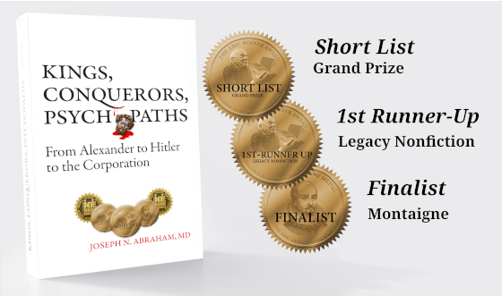 Eric Hoffer Award grants three medals to Kings, Conquerors, Psychopaths