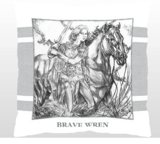 Pillow Venturesome Wren lg