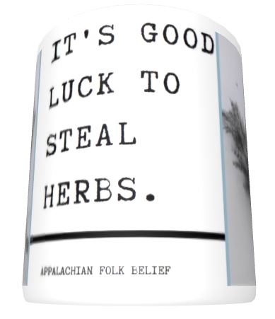 mid good luck herbs mug
