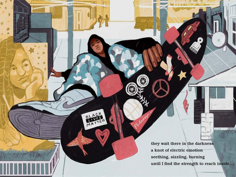 Black Lives Matter Skateboard Sticker