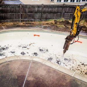 plaster pool demolition