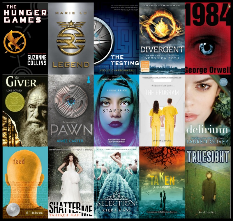 Image result for dystopian novels covers compilation