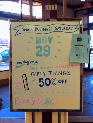 Small Business Saturday Sale on Nov 29, 2014