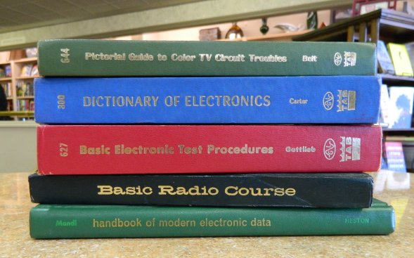 Electronics books stack