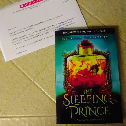 Goodreads Giveaway book I won! Need to read The Sin-Eater's Daughter first then, I'l read it.
