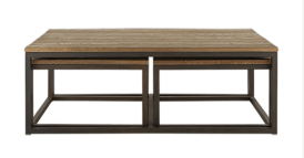 PALMER NESTING COFFEE TABLE SET IN NATURAL OAK