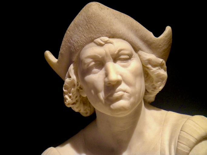 "Benedetto Delisis'  ""Cristoforo Colombo in catene"" Palermo 1831-1875 (c) Diana Belchase Columbus in Chains courtesy of Galleria d'Arte ModernaPalermo, Sicily"