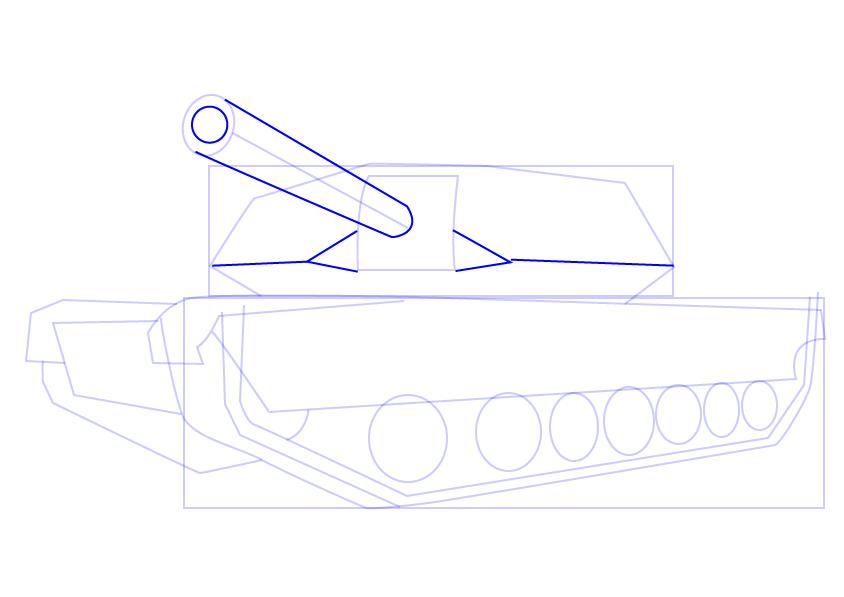11. Как нарисовать танк поэтапно