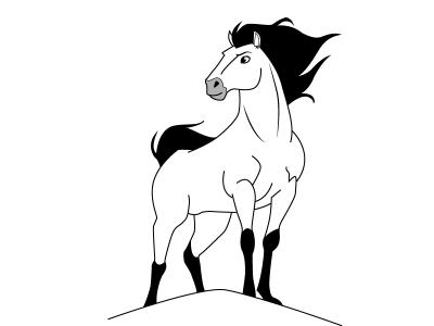 01. Как нарисовать лошадь поэтапно