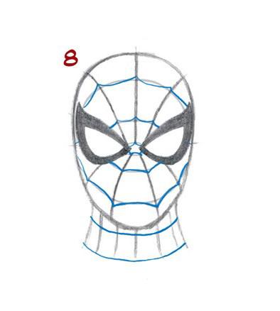 09. Как нарисовать человека паука начинающим