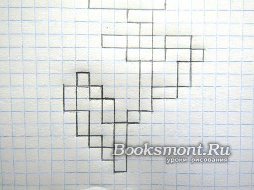 우리는 두 개의 셀과 2 개의 사각형의 두 블록을 유도합니다.