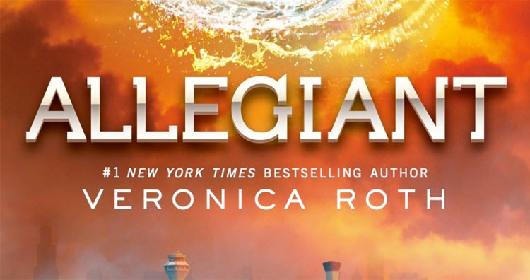 The title of Allegiant by Veronica Roth