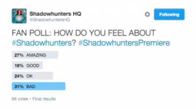 Shadowhunters Poll