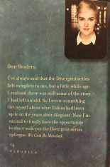 A message from Veronica Roth to her readers.