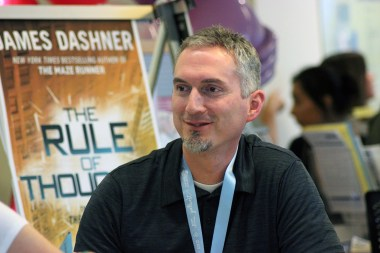 James Dashner ('The Maze Runner') greets fans.