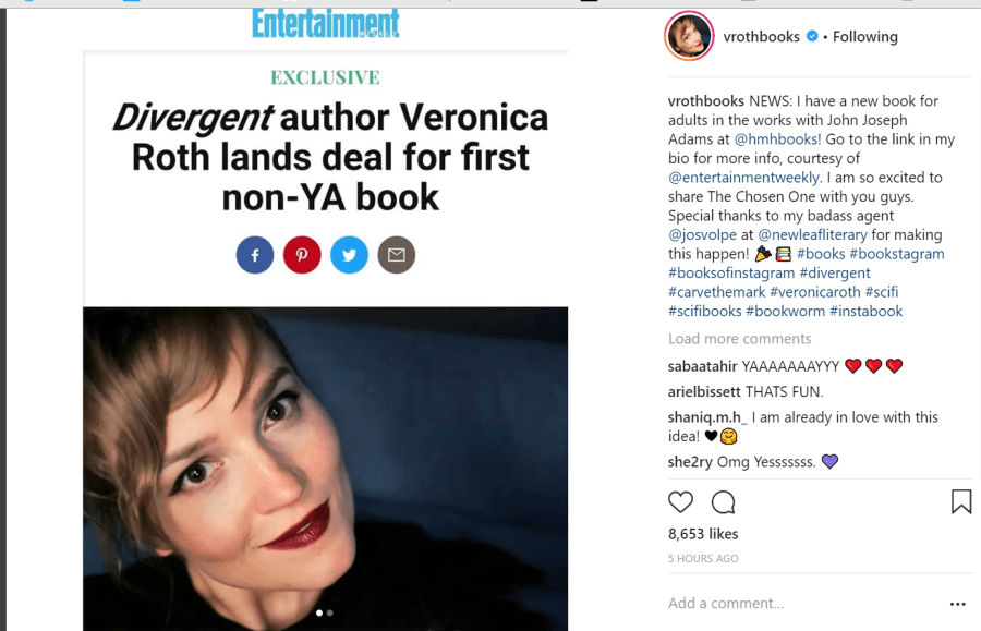 Veronica Roth News