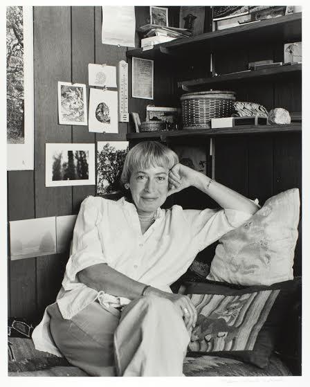 Ursula K. Le Guin in her studio.