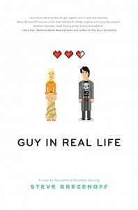 book cover of Guy in Real Life by Steve Brezenoff published by Balzer + Bray