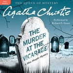 CD cover of Murder at the Vicarage By Agatha Christie Read by Richard E. Grant Published by Harper Audio