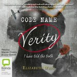 CD cover of Code Name Verity By Elizabeth Wein Read by Morven Christie & Lucy Gaskell Published by Bolinda Audio