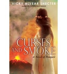 book cover of Curses and Smoke by Vicky Alvear Shecter published by Arthur A Levine