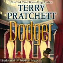 CD cover of Dodger  by Terry Pratchett   Read by Stephen Briggs Published by HarperAudio
