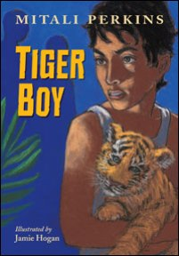 book cover of Tiger Boy by Mitali Perkins published by Charlesbridge