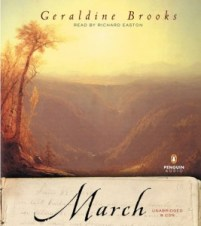CD cover of March  by Geraldine Brooks | Read by Richard Easton Published by Penguin Audio