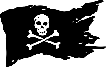 clipart of pirate flag drawn by wesd440 from openclipart.org