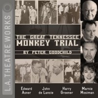 CD cover of Great Tennessee Monkey Trial by Peter Goodchild published by LA Theater Works | recommended on BooksYALove.com