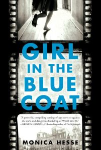 book cover of Girl in the Blue Coat by Monica Hesse, published by Little Brown Teen | recommended on BooksYALove.com