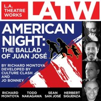 CD cover of American Night: the Ballad of Juan Jose by Richard Montoya, Developed by Culture Clash and Jo Bonney | Read by Richard Montoya, Keith Jefferson, Todd Nakagawa, Sean San Jose, Kimberly Scott, Herbert Siguenza, Tom Virtue, Libby West, Caro Zeller Published by L.A. Theatre Works | recommended on BooksYALove.com