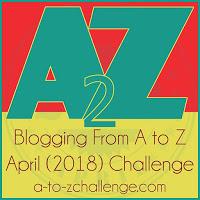 2018 logo for AtoZ blogging challenge