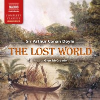 CD cover of The Lost World, by Sir Arthur Conan Doyle | Read by Glen McCready Published by Naxos Audiobooks | recommended on BooksYALove.com