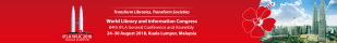 event banner for IFLA 2018 World Library & Information Congress in Kuala Lumpur, Malaysia