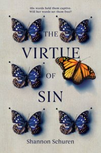 book cover of Virtue of Sin, by Shannon Schuren, published by Penguin Teen | recommended on BooksYALove.com