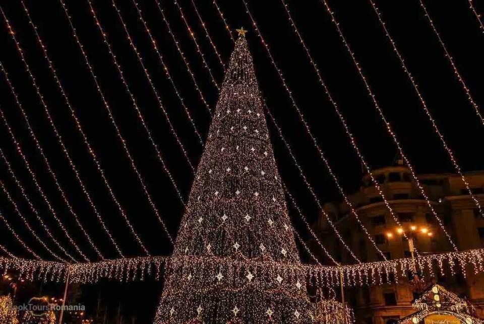 Christmas tree in Bucharest