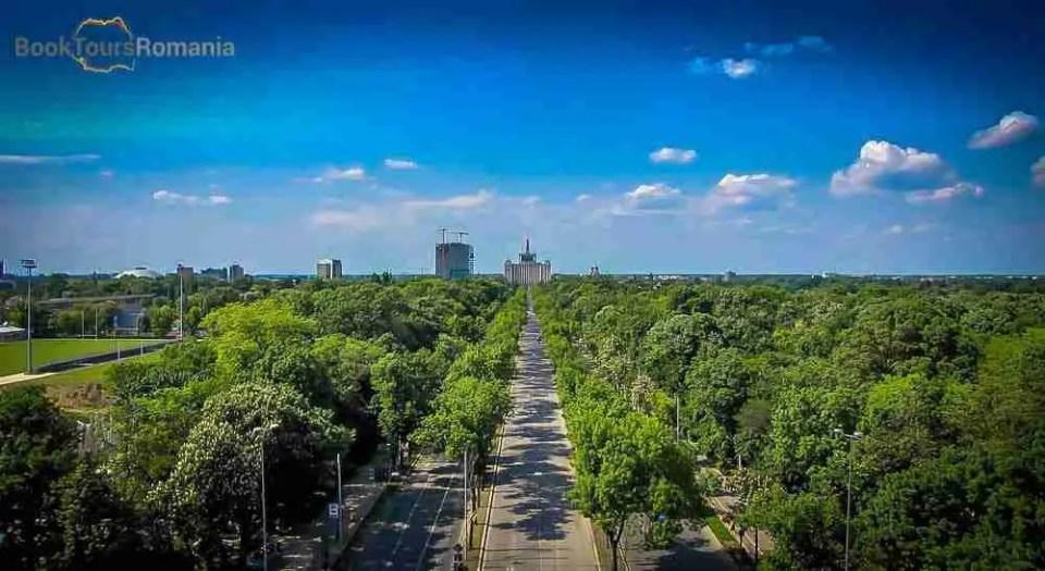 Areal view near Herăstrău Park