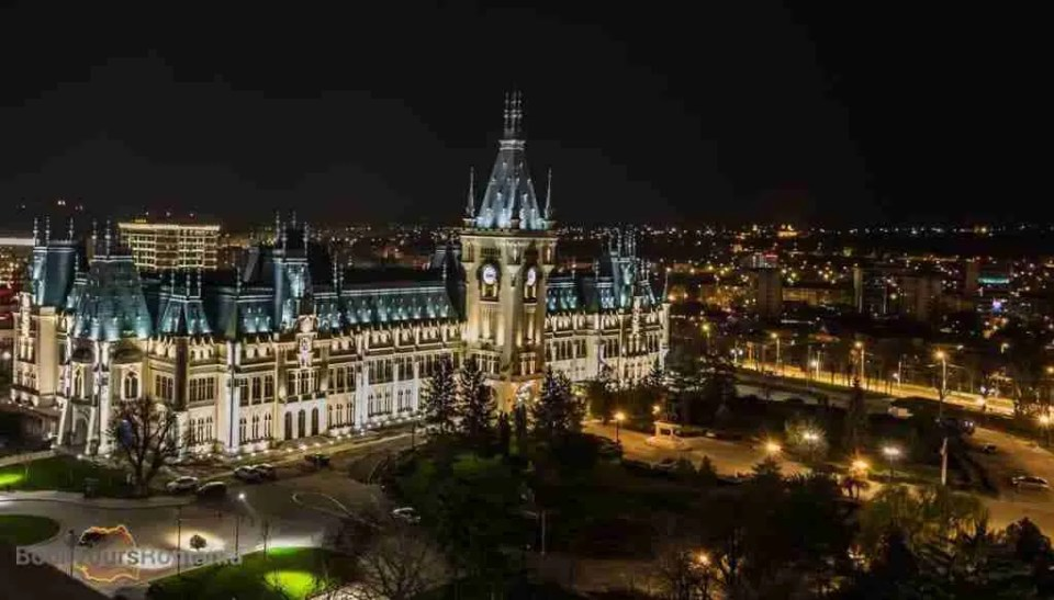 Palace of Culture by night