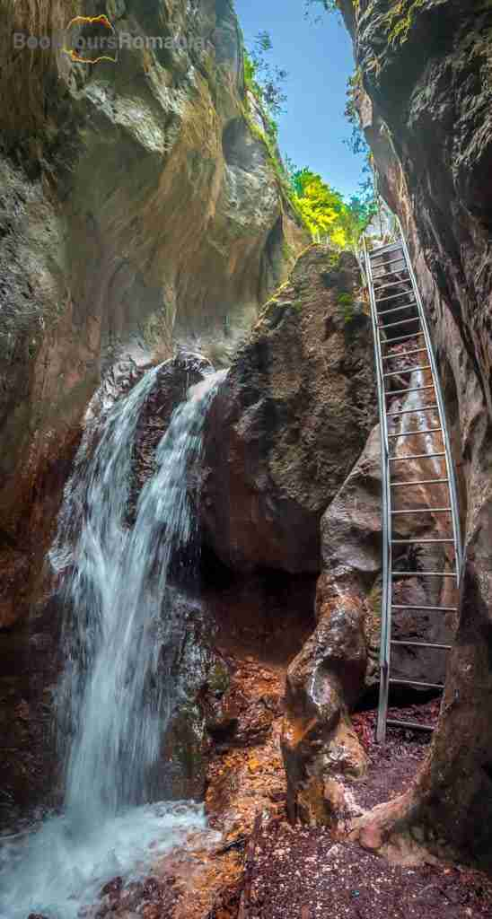Waterfall inside the Seven Ladders Canyon