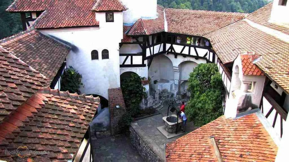 Bran Castle courtyard