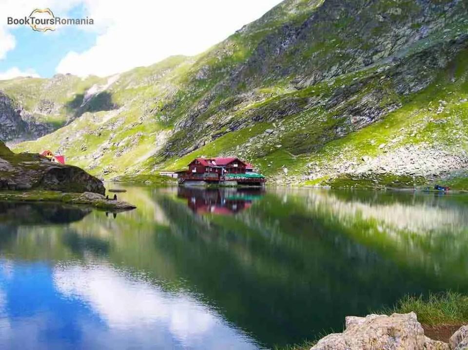 The famous Balea glacier lake