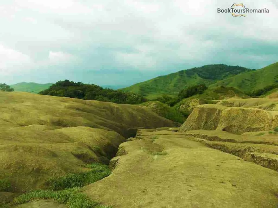 Scenery from the mud volcanoes