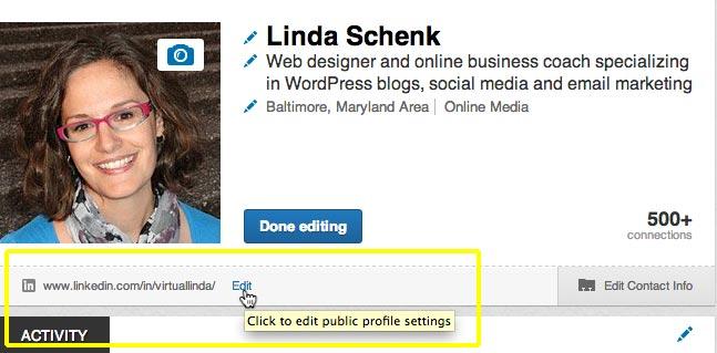 linked custom url