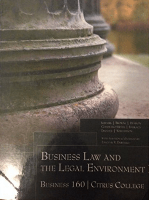 Download Business Law and the Legal Environment
