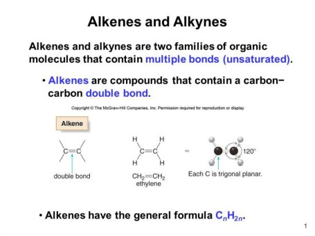 Lecture Notes on Alkenes and alkynes