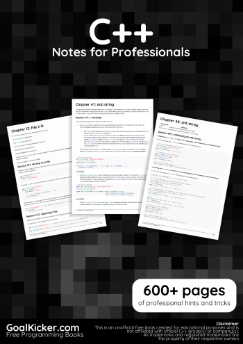 C++ Notes for Professionals